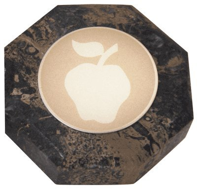 Apple Marble Octagon Paperweight, pack of 1 - Octagon Paperweight