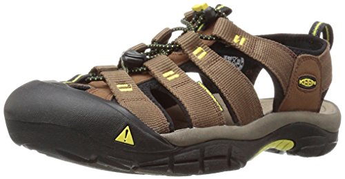 (KEEN Men's Newport h2 Sandal, Dark Earth/Acacia, 12 M US )