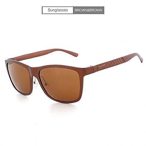 XiuZP Gafas de Sol polarizadas de los Hombres Gafas de Aluminio de la Vendimia Hombre Diseñador