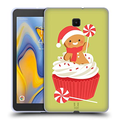 (Head Case Designs Peppermint Cupcake Jolly Christmas Toons Soft Gel Case Compatible for Galaxy Tab A 8.0 (2018))