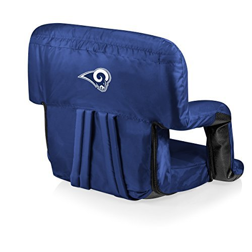 (NFL LA Rams Portable Ventura Reclining Stadium Seat, Navy)