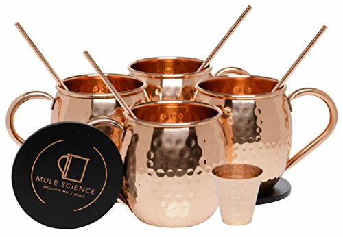 Mule Science Moscow Mule Copper Mugs Set Of 4 100