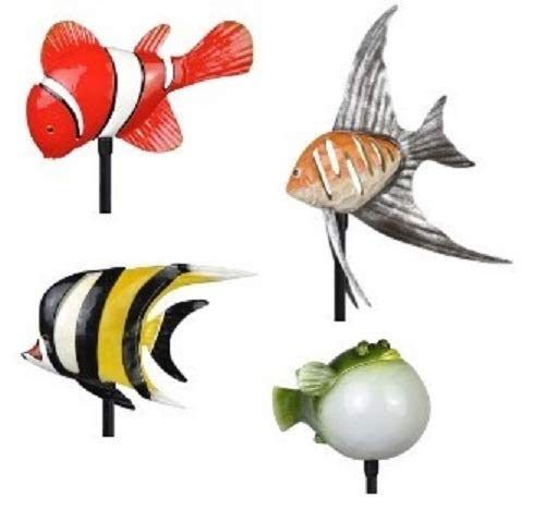 - Moonrays 96308 Tropical Fish Friends Stake Lights, Multi-Color