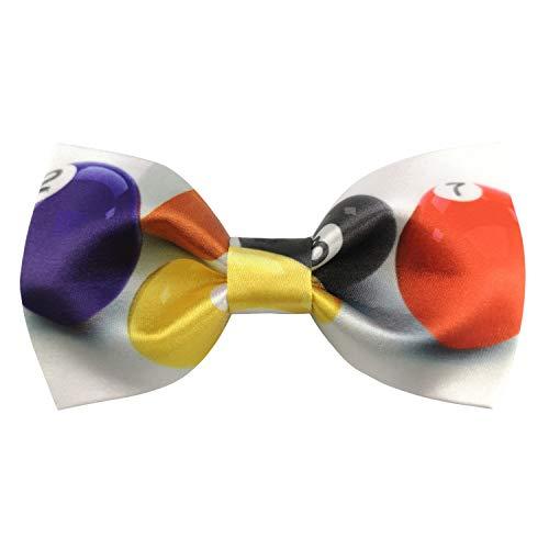 Murong Jun Men's Series of Billiards Snooker Pre-Tied Bow Tie Handmade Silk Satin Bowtie (White) ()