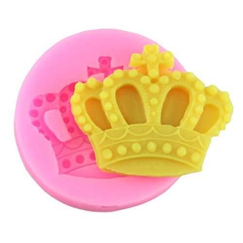 Mujiang Baking Molds Silicone Crown Fondant Mold Queen Candy Chocolate Molds For Sugar Craft Gum Pate Cake Decorating (Mold Crown Silicone)