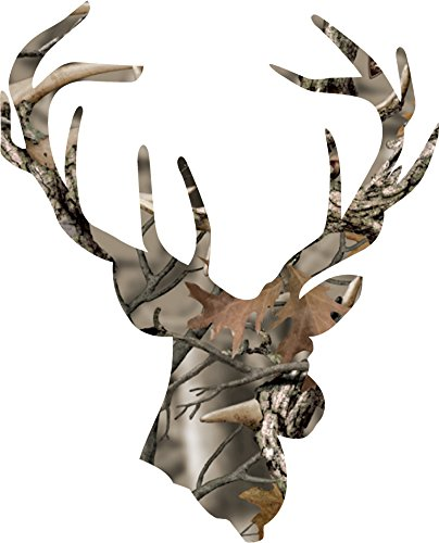 deer head heart decal - 6
