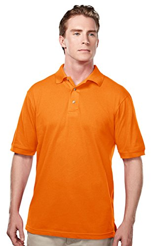 Ultimate Pique Shirt - Tri-Mountain 095 Mens Easy care short sleeve pique golf shirt - Dark Orange - 3XL