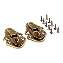 Dophee 2Pcs Antique Style 55x33mm Decorative Box Latch Hasps for Wooden Jewelry Gift Wine Box