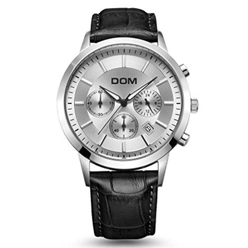 Sheli Mens Casual Gmt Japan Quartz Chronograph Kickstarter Date Wrist Watch
