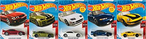 Hot Wheels 2019 Nissan 5 Car Set Bundle