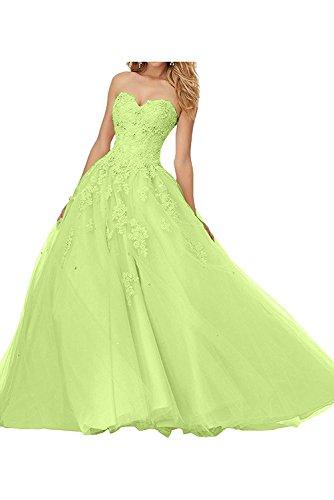 Spitze Herzausschnitt Lang Damen Abschlussballkleider Apfel Abendkleider Gruen mia Braut Traumhaft La Abiballkleider wqXZIZ