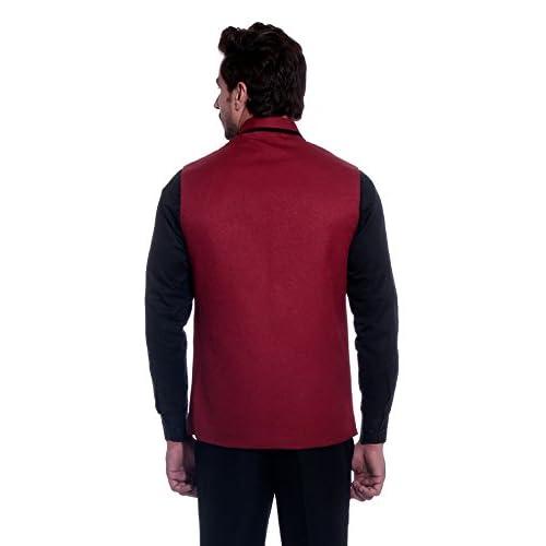 41Vfx pf%2BwL. SS500  - BIS Creations Men's Solid Maroon Waistcoat