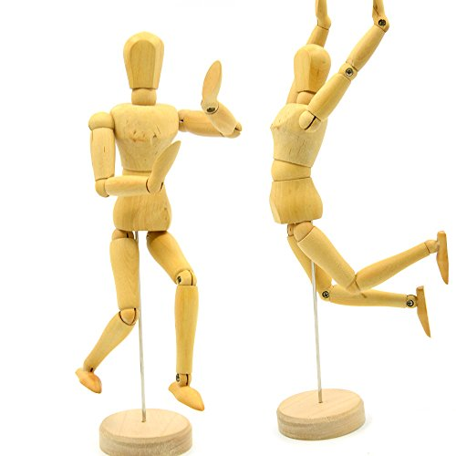 Kangkang@ 8 inch Joints wood Wooden mannequin toy wooden puppet wooden manikin Home Decoration Model Painting sketch
