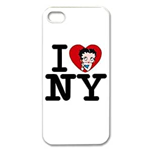 Cute Betty Boop Hard Cover Case for iPhone 5 5s case -white CASE