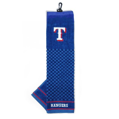 Team Golf MLB Texas Rangers Embroidered Golf Towel, Checkered Scrubber Design, Embroidered Logo ()