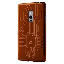 OnePlus 2 Case, Cruzerlite Bugdroid Circuit Case Compatible for OnePlus 2 / OnePlus Two - Retail Packaging - Orange
