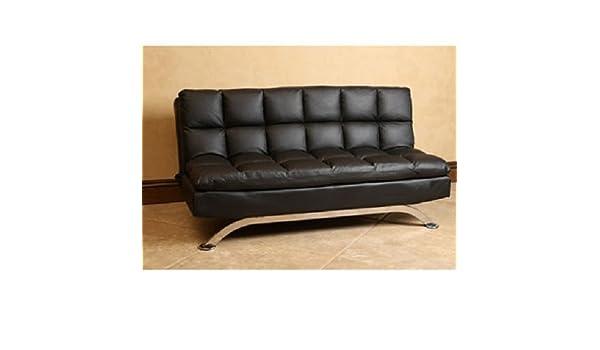 Sensational Amazon Com Silo Euro Stylish Leather Sofa Bed Made Of Solid Lamtechconsult Wood Chair Design Ideas Lamtechconsultcom