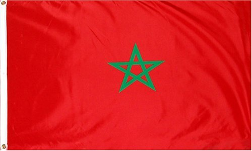 Morocco National Country Flag - 3 foot by 5 foot Polyester (New Polyester Flag)
