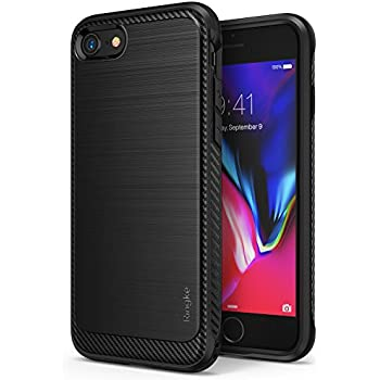 Apple iPhone 7 / iPhone 8 Phone Case, Ringke [Onyx] [Resilient Strength] Flexible Durability, Durable Anti-Slip, TPU Defensive Case for - Black