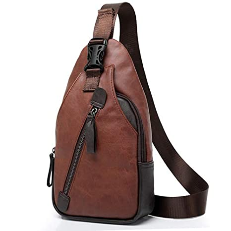 Amazon.com: Men Backpack Bag Design Mochila Travel Leather ...