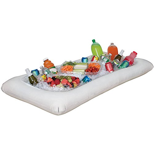 White Inflatable Buffet Cooler Serving