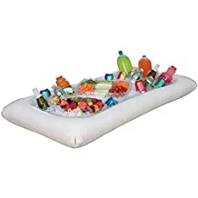 White Inflatable Buffet Cooler Serving Bar