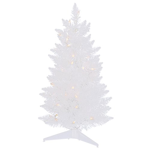 Vickerman 30'' Sparkle White Pencil Artificial Christmas Tree with 50 Warm White LED Lights by Vickerman
