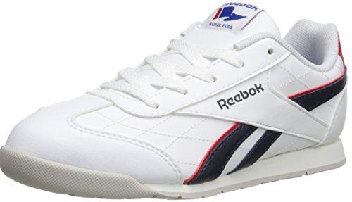 Reebok Royal Attack YTH Shoe (Little Kid/Big Kid),White/Faux Indigo/Red Rush/Steel,5.5 M US Big Kid