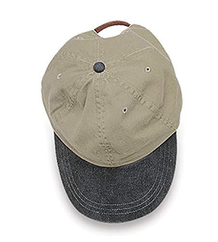 Adams Optimum Khaki Crown Pigment Dyed Twill Cap (Khaki_Black) (ALL)