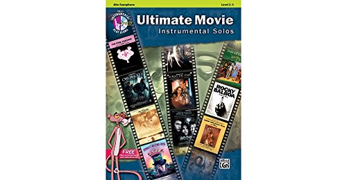 Alfred Ultimate Movie Instrumental Solos for Alto Sax Book & CD (Tenor Music Alfred Sheet)