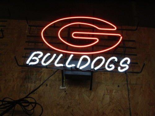 Sign Neon Bulldogs Georgia (Desung Brand New 17