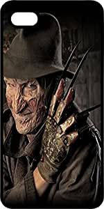 Horror Movie Freddy Krueger Black Rubber Case for Apple iPhone 5 or iPhone 5s by Maris's Diary