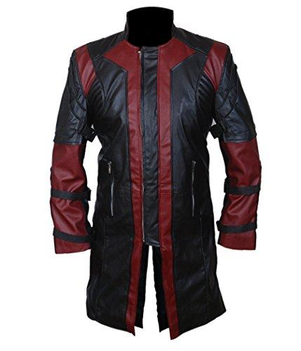 F&H Boy's 2015 Avengers Age of Ultron Hawkeye Genuine Leather Coat XXS Black -