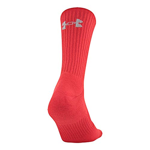Under Armour unisex-adult Charged Cotton 2.0 Crew Socks, 6-Pairs