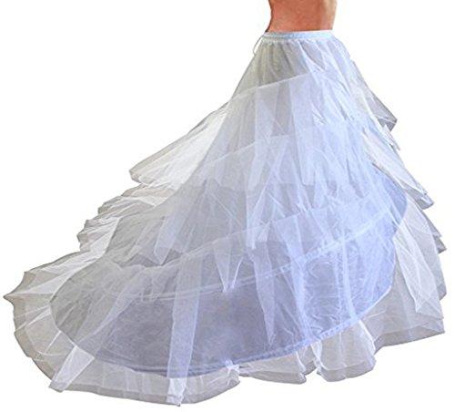 Donna Vestito 6 unica bianco Taglia sottoveste Crinolina XXL Abito 4 per Petticoat qi 3 per da Sposa Adatto Treno Sottogonne XS Taglia cerchio Edith PaY5qwfn4