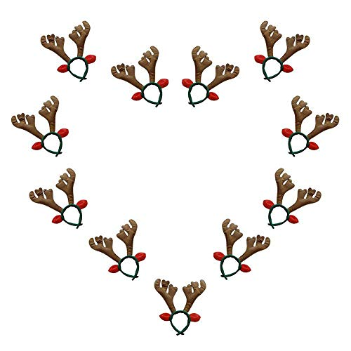 Fellibay Reindeer Antlers Headband Halloween Headband Costume Antlers for Christmas Easter Party Headbands (Brown) -