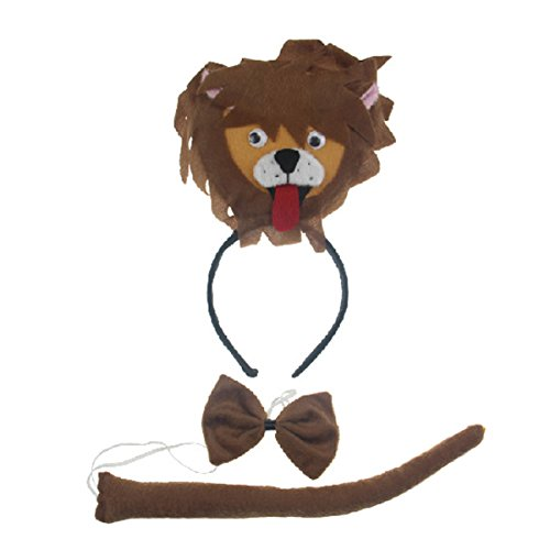 Cute Lion Headband Bowtie Tail 3pc Costume for Children Halloween or Party (Naughty But Nice Costumes)
