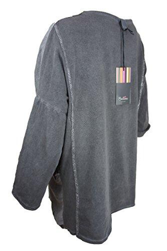 Bellina extravagantes Langarmshirt mit Sternen, grau, 38