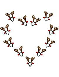 Fellibay Reindeer Antlers Headband Halloween Headband Costume Antlers for Christmas Easter Party Headbands (Brown)