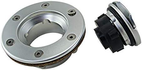 Xigeapg Aluminum Billet Fuel Surge Tank//Fuel Cell Cap Flush Mount 6 Bolt Mirror Polished Opening SLYXG01