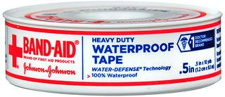 Band-Aid Heavy Duty Waterproof Tape .5 Inch, 10 yds, Pack of 5