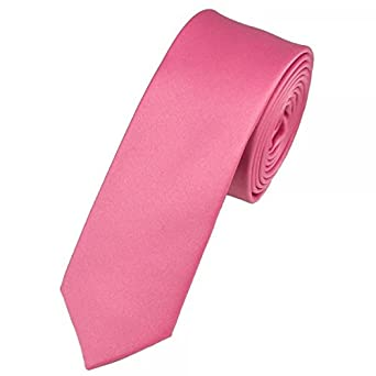 26a61f797b90 Ties Planet Plain Rose Pink Skinny Tie  Amazon.co.uk  Clothing