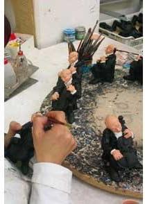 Antartidee Perchero de Pared m-Finger Negro de Resina Decorado a Mano