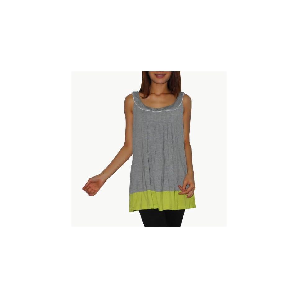 DKNY Womens Comfortable Crew Neck Sleeveless Tank Shirt / Tee Blouse   Large