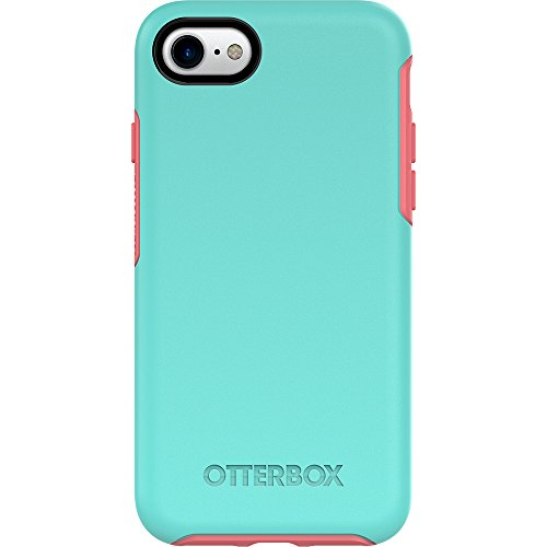 OtterBox Symmetry Series Case for iPhone 8 & iPhone 7 (Not Plus) (Certified Refurbished) - Candy Shop (Aqua Mint/Candy Pink)
