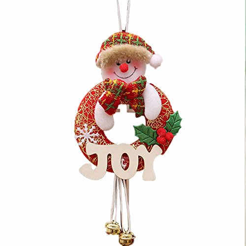 Christmas Tree Decor Ornaments Sets Cloth Santa, Elk, Snowman, Beer With Jingle Bell For Season Fesitival By Xander (D)