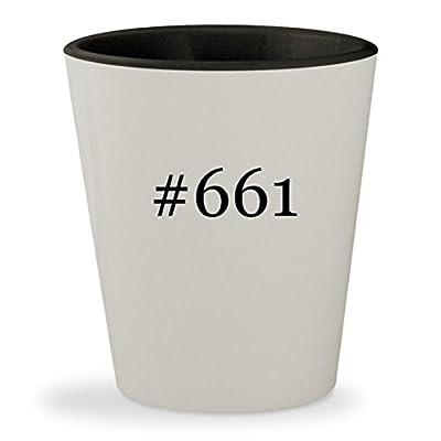 #661 - Hashtag White Outer & Black Inner Ceramic 1.5oz Shot Glass