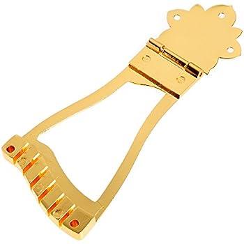 lyws guitar bridge trapeze tailpiece for archtop jazz guitar parts hollow body gold. Black Bedroom Furniture Sets. Home Design Ideas