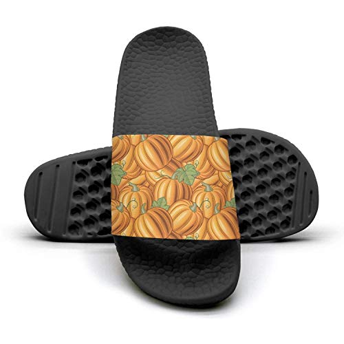 Cartoon pumpkin pattern designs Mens sliders Slides Shoes ()