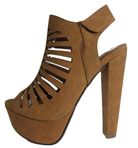 Womens Platform Strappy Cutout Chunky product image